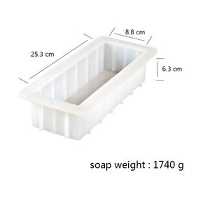 Image 2 - Nicole Rendering formy silikonowe do mydła z przezroczystą pionową akrylową klapą białe prostokątne formy do DIY Handmade