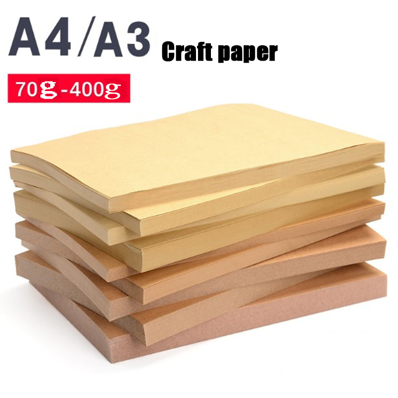 A4 A3 Kraft Paper Cardboard Color Lead Sketch Painting Art Printing Paper Binding Cover Handmade Wrapping Paper