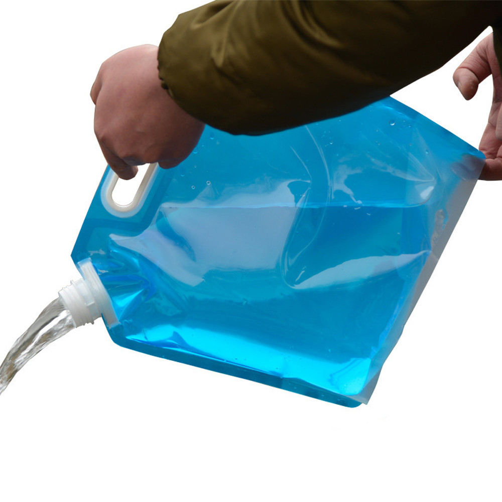 5L /10L Folding Drinking Water Bucket Camping HikingTemperature 0  To 80 Degrees Water Container Storage Bag L1015