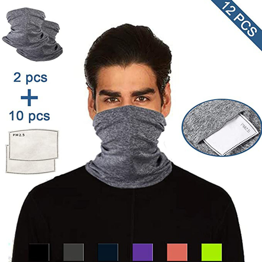 Multifunctional Head Scarf Maske Facemask Face Mouth Neck Cover With Safety Filter Mascarillas Washable Bandanas Reusable Innrech Market.com