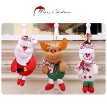 Рождественская вечеринка Санта-Клаус, медведь, Рождественская елка, лось, снеговик, Висячие Подвески, украшения, ремесла, тканевая кукла, домашний декор, поставка