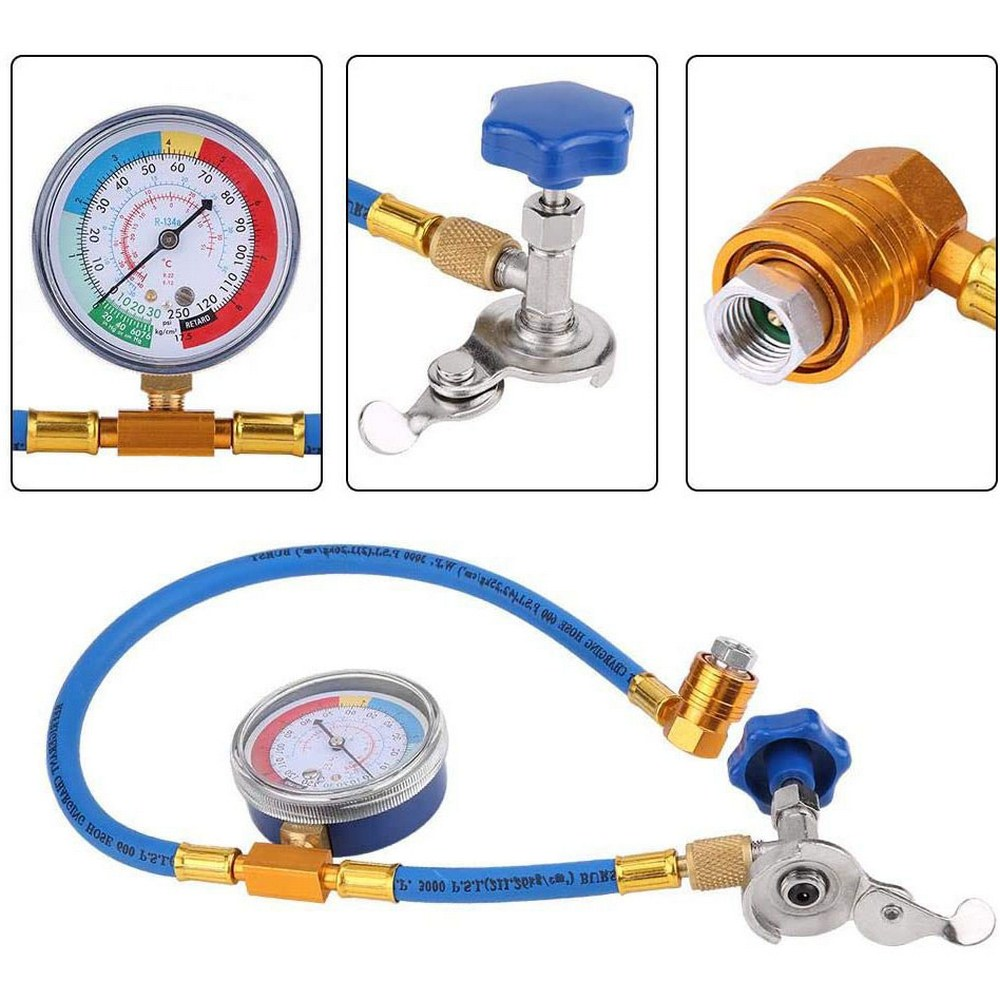 Hot Sale R134A Car Air Conditioning Refrigerant Refill Hose Inspection Pipe Fluorine Tube Brand New And High Quality