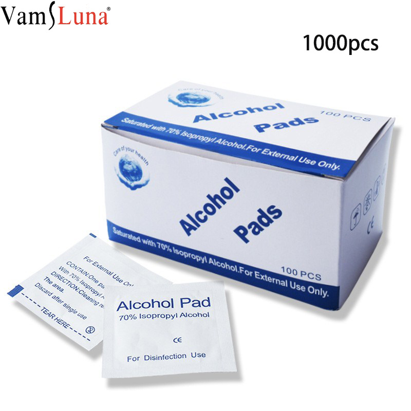 1000pcs Disposable Medical Alcohol Pad Wipes Sterilization Sealed Sterile Disinfection Travel Outdoor Emergency Tourniquet