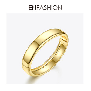 Image 4 - ENFASHION Blank Wide Cuff Bracelets For Women Accessories Gold Color Simple Minimalist Bangles Fashion Jewelry Wholesale B192029
