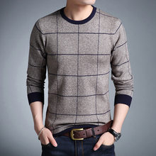 Casual Men's Sweater O-Neck Striped Slim Fit Knittwear 2019 Autumn Mens Sweaters Pullovers Pullover Men Pull Homme M-3XL(China)