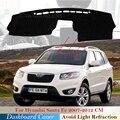 Защитная накладка на приборную панель для Hyundai Santa Fe 2007 2008 2009 2010 2011 2012 см, автомобильные аксессуары, приборная панель, коврик от солнца