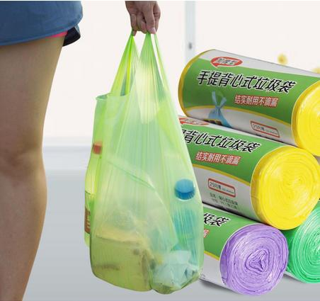 Degradable Thicken Bucket Trash Can Portable 30pcs/roll Garbage Bags Rubbish Garbage Disposal Kitchen Sink Trash Vest Type