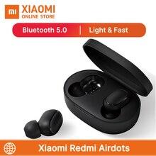 Heißer Verkauf Xiaomi Redmi Airdots TWS Drahtlose kopfhörer Bluetooth 5,0 Mit Mic Freihändiger Ohrhörer AI Stereo bass