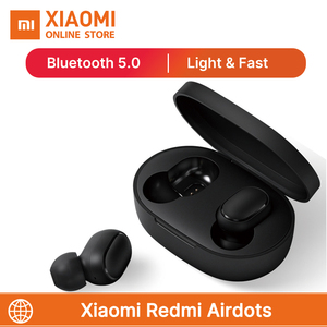 Image 1 - Hot Sale Xiaomi Redmi Airdots TWS Wireless earphones Bluetooth 5.0 With Mic Handsfree Earbuds AI Control Stereo bass