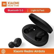 Sıcak satış Xiaomi Redmi Airdots TWS kablosuz kulaklık Bluetooth 5.0 Mic ile Handsfree kulaklık AI kontrolü Stereo bas