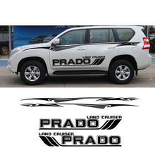 Para toyota land cruiser prado porta lateral do carro adesivos suv lado listra decaldesign vinil