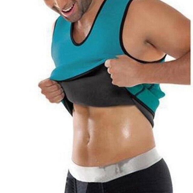 Men Neoprene Slimming Vest Hot Gym Power Belt Body Shapewear Running Tank Top Men Abdomen Shaper Shirt Fitness Sports Sweat Vest 2