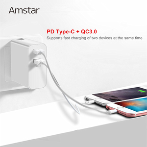 Image 5 - Amstar 48W Quick Charge QC4.0 3.0 USB C Fast Charger for iPhone 11 Pro XS Samsung 10 Huawei 30W PD Charger Type C Travel Adapter