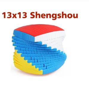Image 1 - Shengshou 13 Layers 13x13x13 magic cube stickerless Speed Magic Puzzle 13x13 Educational Cubo magico Toys (128mm) kids toys