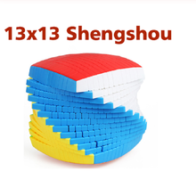 Shengshou Cubo mágico sin etiqueta de 13 capas, 13x13x13, rompecabezas mágico de velocidad 13x13, juguetes educativos para niños, 128mm