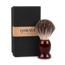Shaving-Brush Hair Wood Classic Safety Qshave-Man Double-Edge Straight Pure-Badger