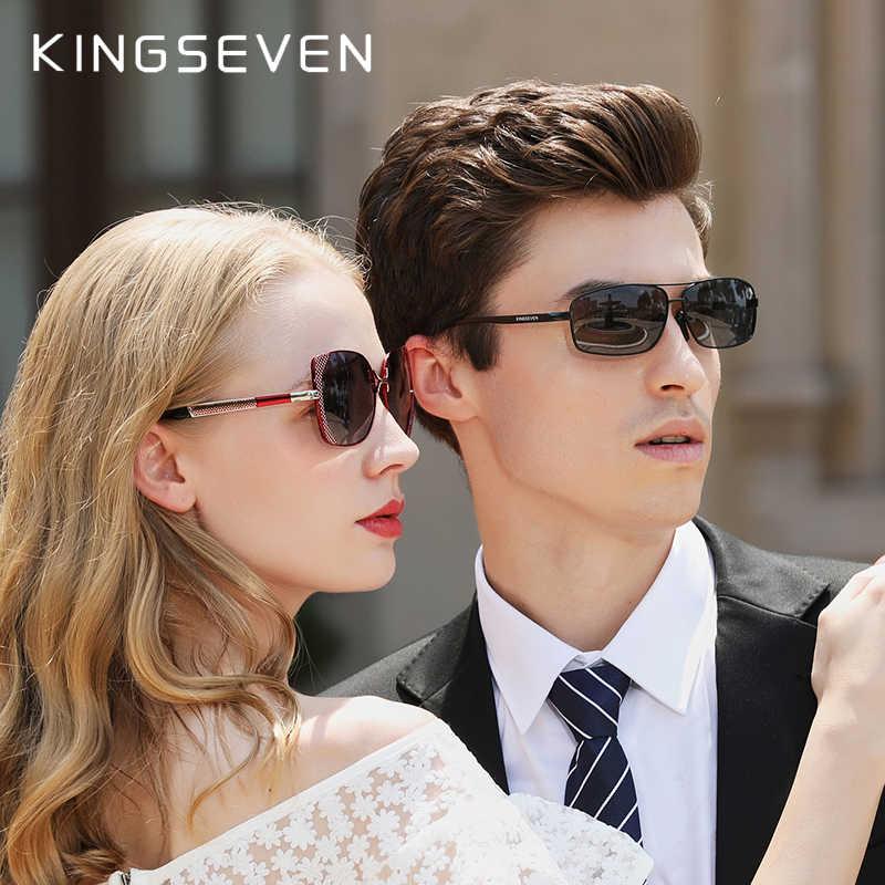 KINGSEVEN Vintage Retro Designerผู้ชายPolarizedแว่นตากันแดดผู้ชายคลาสสิกแว่นตากันแดดUV400 N7088