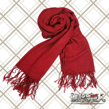 New Arrival for Anime Attack on Titan Mikasa Levi Cosplay Scarf Red neckerchief Costume
