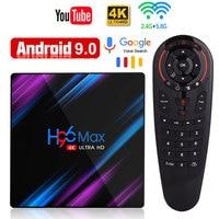 H96 Max Rockchip RK3318 4K Smart TV Box Android 9.0 TV Box 4GB 64GB Media player 4K Google Voice Control Netflix Youtube Top box