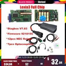 Полные фишки с золотым краем Lexia3 PP2000 PSA XS Evolution Diagbox V7.83 Lexia для Citroen/peugeot супер прошивка 921815C Lexia 3