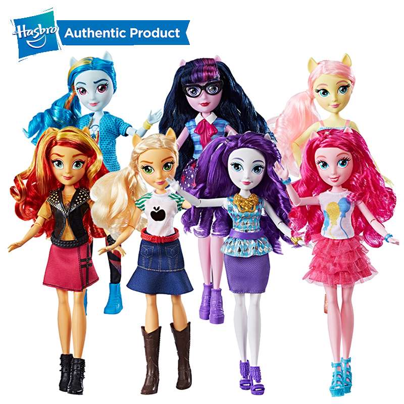 Hasbro My Little Pony Equestria Girls 11-Inch Rainbow Dash Fluttershy Twilight Classic Fashion Doll Collectible Gift PVC Figures