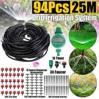 94Pcs 25M Automatic Plant Watering Kit Micro Drip Irrigation System Intelligent Water Timer Sprinkler Controller Home Garden