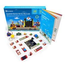 Elecrow Crowtail Lernen Starter Kit für Micro: bit 2,0 Grafische Programmierung DIY Anfänger mit 17 stücke Grundlegende Crowtail Module