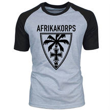 Nieuwe Est T Shirts Mannen Maglietta Afrika Korps Palm Wehrmacht Deutschen Heeres Gruppe Dak Raglan Korte Mouw T-shirt