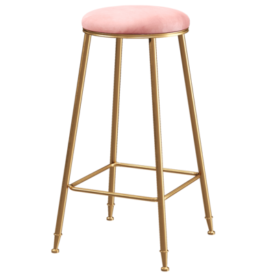Nordic Modern Household Leisure Bar, Chair, Stool, Coffee Restaurant,  Simple Light Luxury High  Front Desk Stool