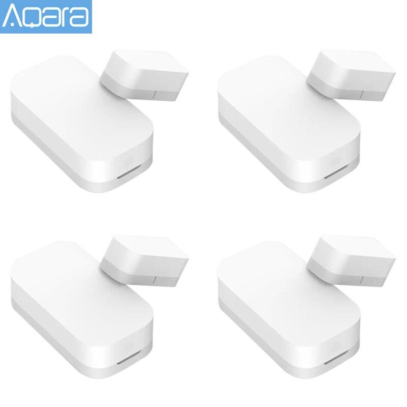 1-4 pces aqara sensor de janela da porta zigbee conexão sem fio sensor de porta inteligente trabalho com mi casa app para xiaomi mijia casa inteligente