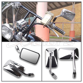 Dla Honda CA250 Steed 400 600 VLX Magna 250 750 cień 400 600 VT 750 NV 400 600 lusterko wsteczne motocyklowe lusterka boczne tanie i dobre opinie CN (pochodzenie) Lusterka boczne i akcesoria 0 6kg