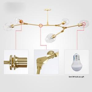 Image 3 - Dropshipping nórdico moderno pingente luzes designer de vidro pedante lâmpadas arte decoração luminárias para barra jantar sala estar