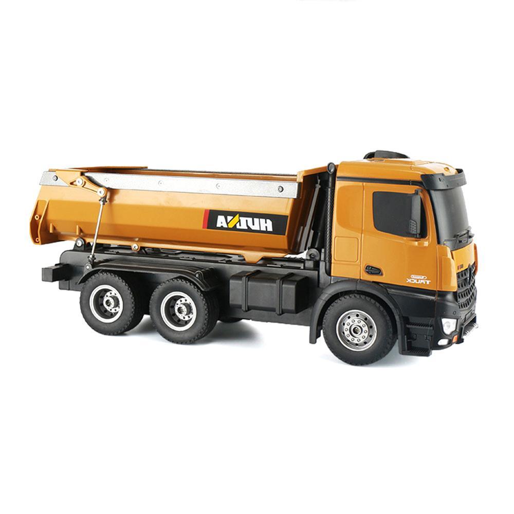 HUINA 1573 1/14 10CH alliage RC camions à benne basculante jouet ingénierie Construction télécommande voiture véhicule jouet RTR RC camion jouet pour garçons