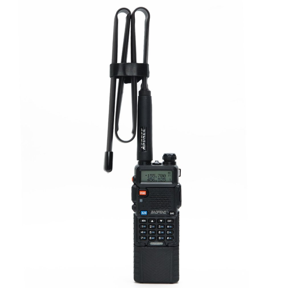Walkie-Talkie Uv-5R Uv-82Cs Tactical Antenna Plastic +Metal Sma-Female Connector Dual Band Foldable Cs Tactical Antenna