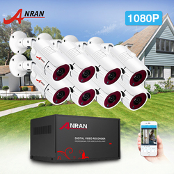 Anran Ahd Camera Systeem Analoge Hd Dvr 1080P Ir Night Vision Security Camera Kit Indoor & Outdoor 8CH Dvr video Surveillance Systeem
