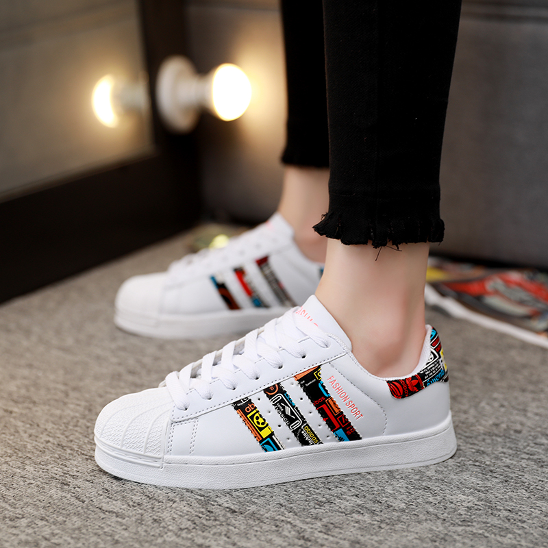 Shell Head Men's Shoes Casual Shoes Men And Women With The Same Paragraph Wild Couple Shoes Small White Shoes Three Bars Shoes