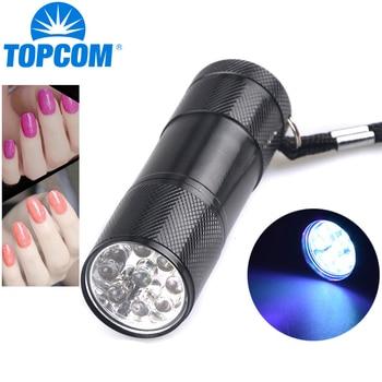 TopCom Portable 9 LED UV Light 365nm UV Flashlight 395nm UV Torch Ultraviolet Black Light Nail Dryer Glue Curing Money Detector маршрутизатор mikrotik ccr1036 8g 2s em 8x10 100 1000mbps 2xsfp 1xmicrousb rack mount