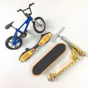 Mini Finger Skateboarding Fingerboard Bicycle Set Fun Skate Boards Mini Bikes Toys for Children Boys Gifts Kids Toys Car Gifts