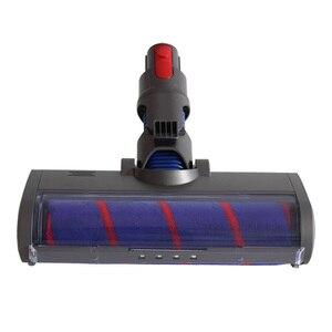 Cepillo de rodillo de suelo eléctrico esponjoso para Dyson V7 V8 V10 V11 pieza de aspiradora cepillo de rodillo suave herramienta de limpieza de cabeza de alta calidad