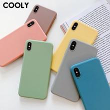 COOLY şeker renk durumda Huawei onur için 8X 8A 8C 7X 9 i 10i V20 arka kapak onur 10 lite 20 Pro yumuşak TPU silikon telefon Coque