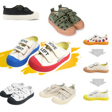 Casual Girls Boys Canvas Shoes Novesta Brand Printed Fashion Children Shoes Non-slip 2020 Spring Kids Sneakers Spotrt Shoes
