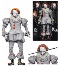 18cm Speelgoed Pop Action Figure horror Joker NECA kerst Halloween HET pennywise Stephen King Figuur Decoratie model speelgoed(China)