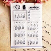 Venda quente calendário transparente selo transparente/selo de silicone rolo selo álbum de scrapbook diy/cartão de produção