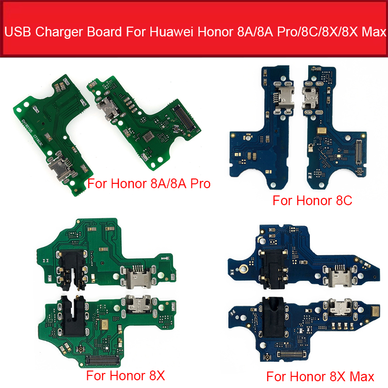 Charger USB Plug Jack Board For Huawei Honor 8A Pro 8C 8X Max USB Charging Port Dock Board Replacement Parts