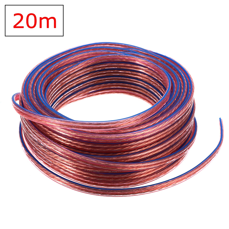 20 m diy alto-falante cabo hi-fi linha de áudio cabo de oxigênio livre fio de cobre alto-falante para amplificador de cinema em casa ktv dj sistema