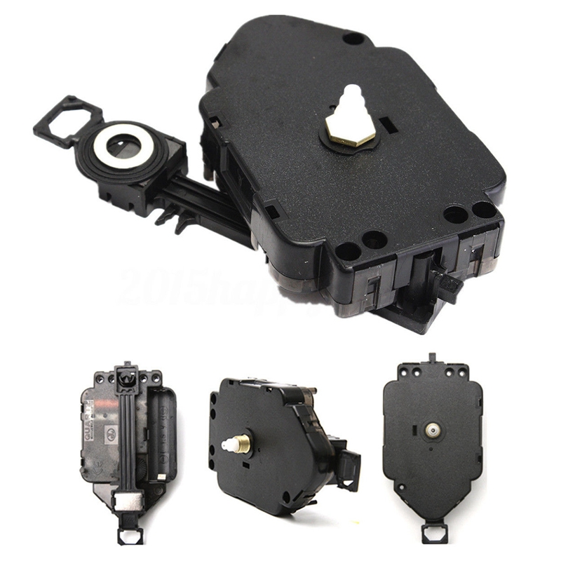 New Black Quartz Clock Pendulum Movement Mechanism Motor & Fittings DIY Drive Unit|Clock Parts & Accessories| |  - title=