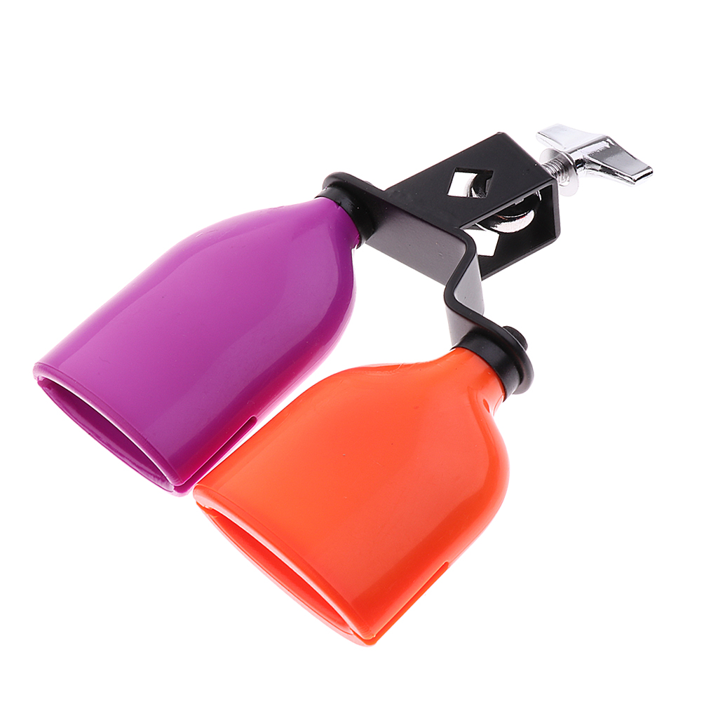 3 Colors High Pitched ABS Cowbell Drum Percussion Musical Accessory