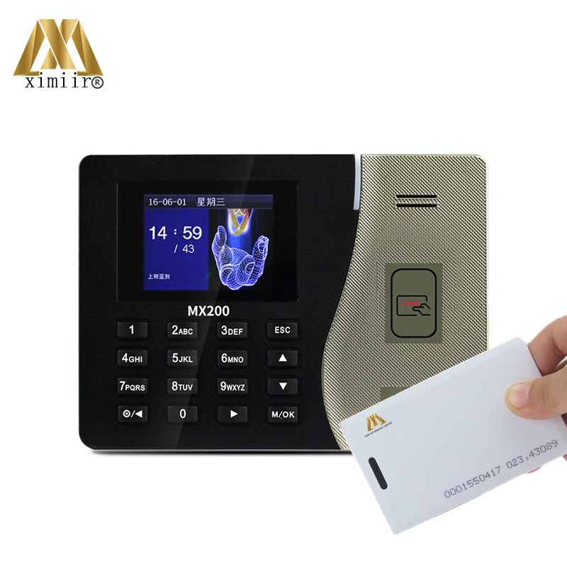 Linux System ZK New Arrival MX200 Card Time Attendance With 125KHz RFID Card Time Clock Office Time Terminal