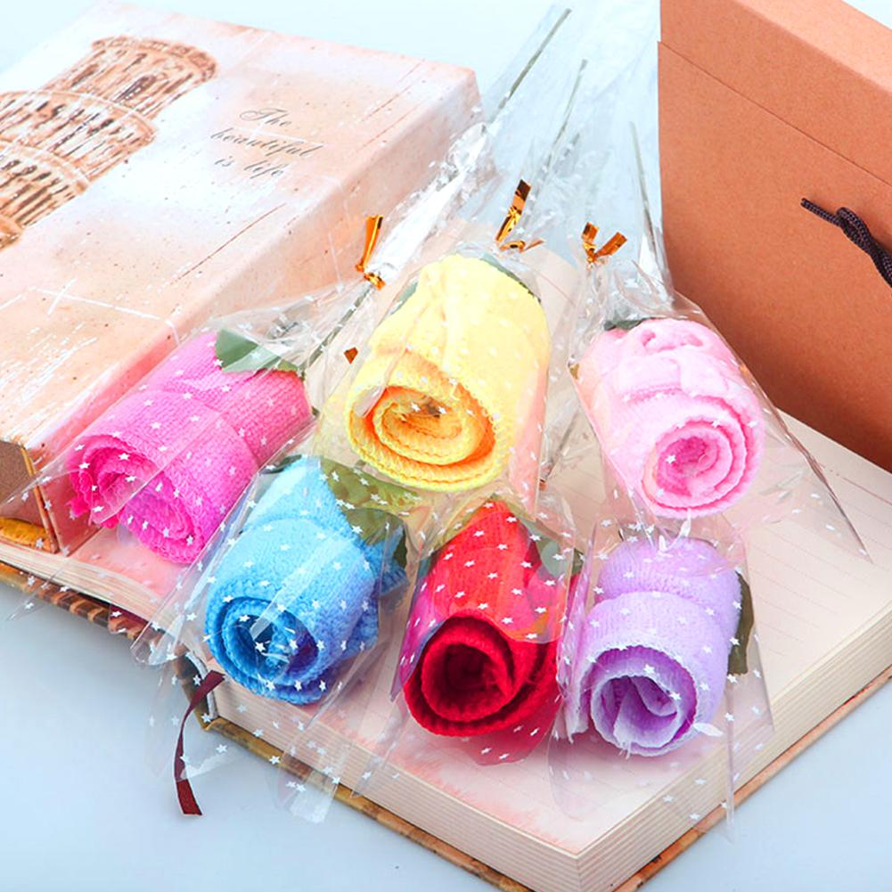 Rose Towel Innovative Mini Ultra-fine Nanofiber Towels Wedding Holiday Gifts Kindergarten Gifts Company Activities Decorations image