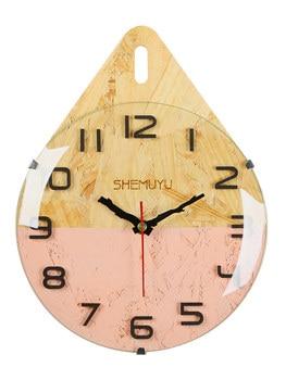 Nordic Digital Wall Clock Modern Design Wall Watch Modern Decor Metal Wall Reloj De Pared Home Decor Kitchen  AA60WC
